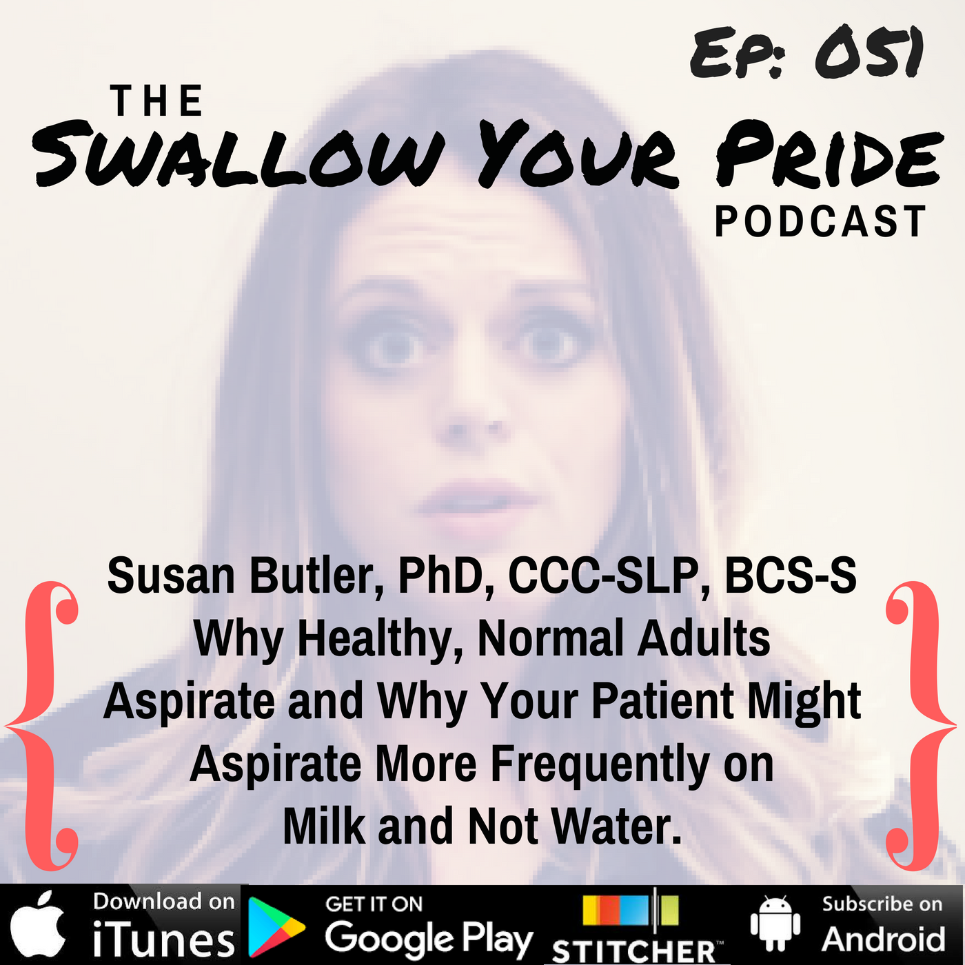 051 – Susan Butler, PhD, CCC-SLP, BCS-S – Why Healthy, Normal Adults  Aspirate and Why Your Patient Might  Aspirate More Frequently on  Milk and Not Water