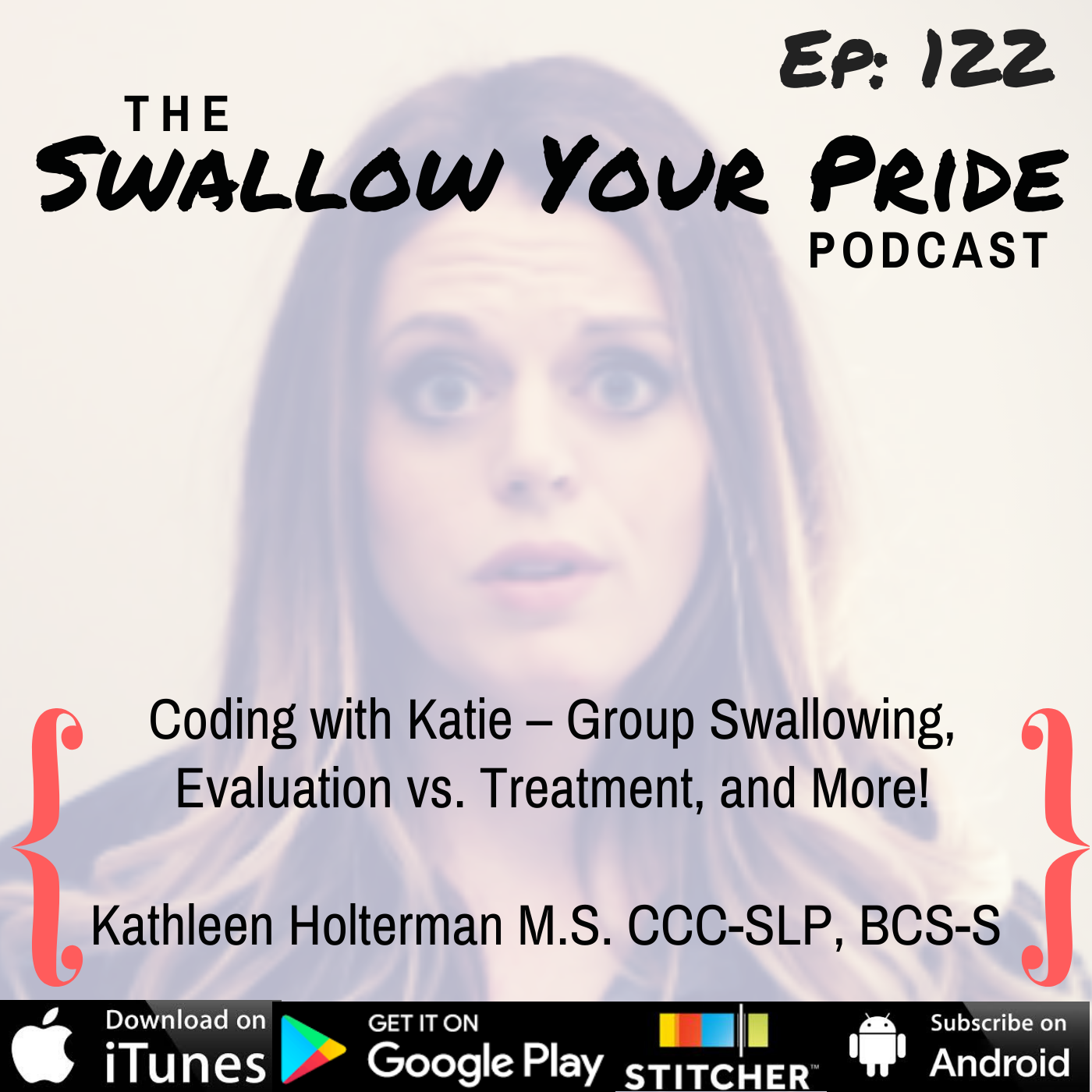 122 – Kathleen Holterman M.S. CCC-SLP, BCS-S – Coding with Katie – Group Swallowing, Evaluation vs. Treatment, and More!