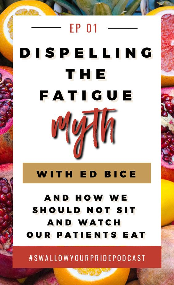 Dispelling the Fatigue Myth for med SLPs patients with Dysphagia and swallowing disorders. With special guest Ed Bice - In this episode, we dispel the myth that the swallow is subject to fatigue. Ed presents us with an incredible review of the muscle physiology, what exactly we can tell at the bedside, and why there is no value in sitting and watching your patient eat.